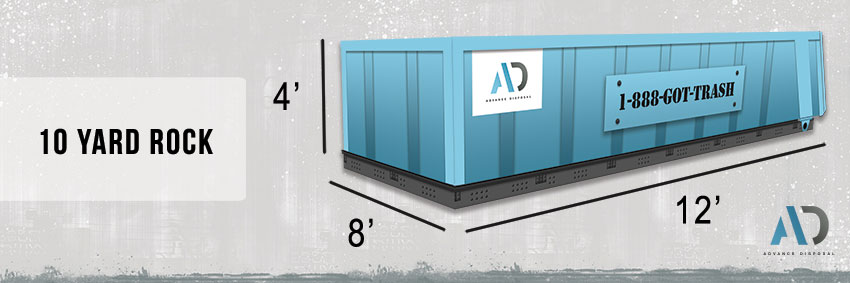 10 Yard Rock Dumpster Rental