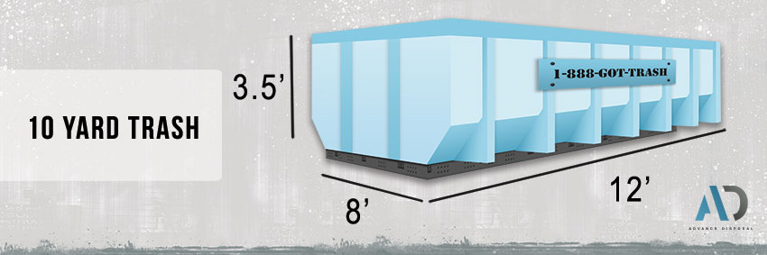 10 Yard Trash Dumpster