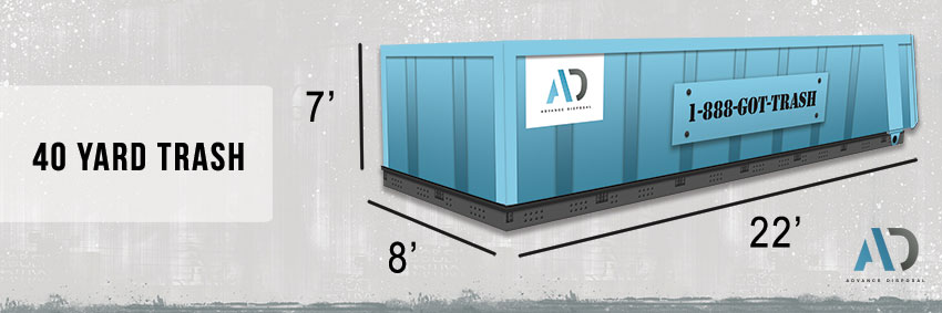 40 Yard Trash Dumpster