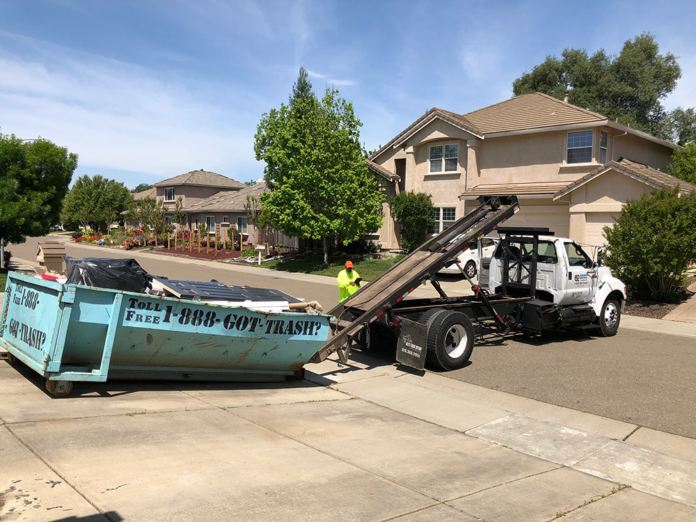 A Dumpster Rental for Landscape Clean-up